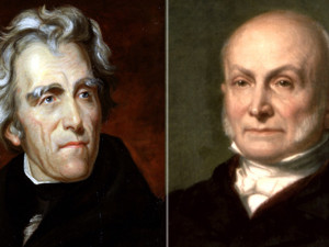 Andrew Jackson and John Quincy Adams