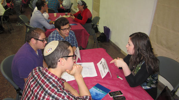 Participants at a Yeshiva University Israel Career Fair