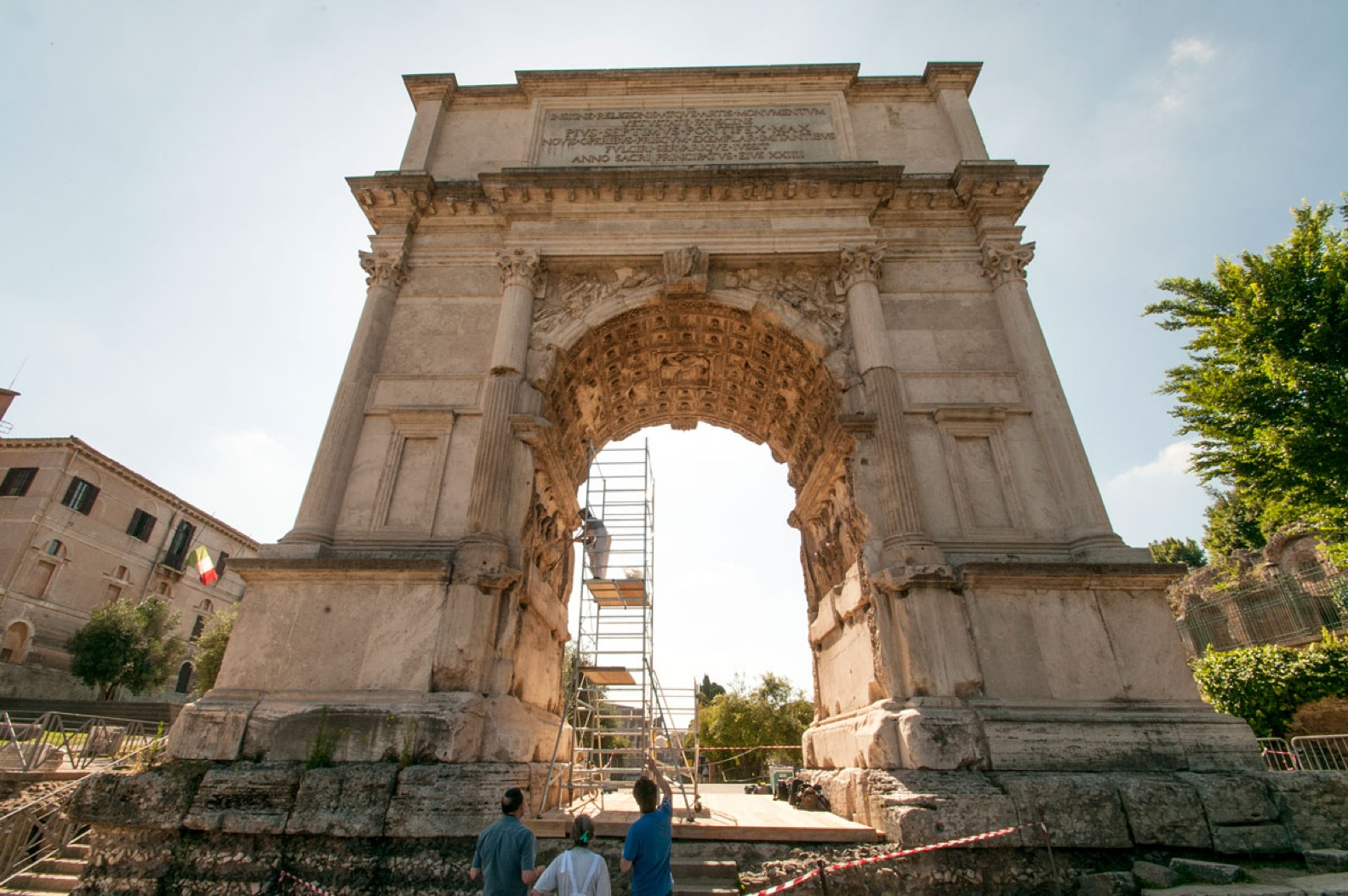 The Arch of Titus in the Roman forum