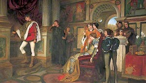 Painting of Shakespeare's Merchant of Venice production