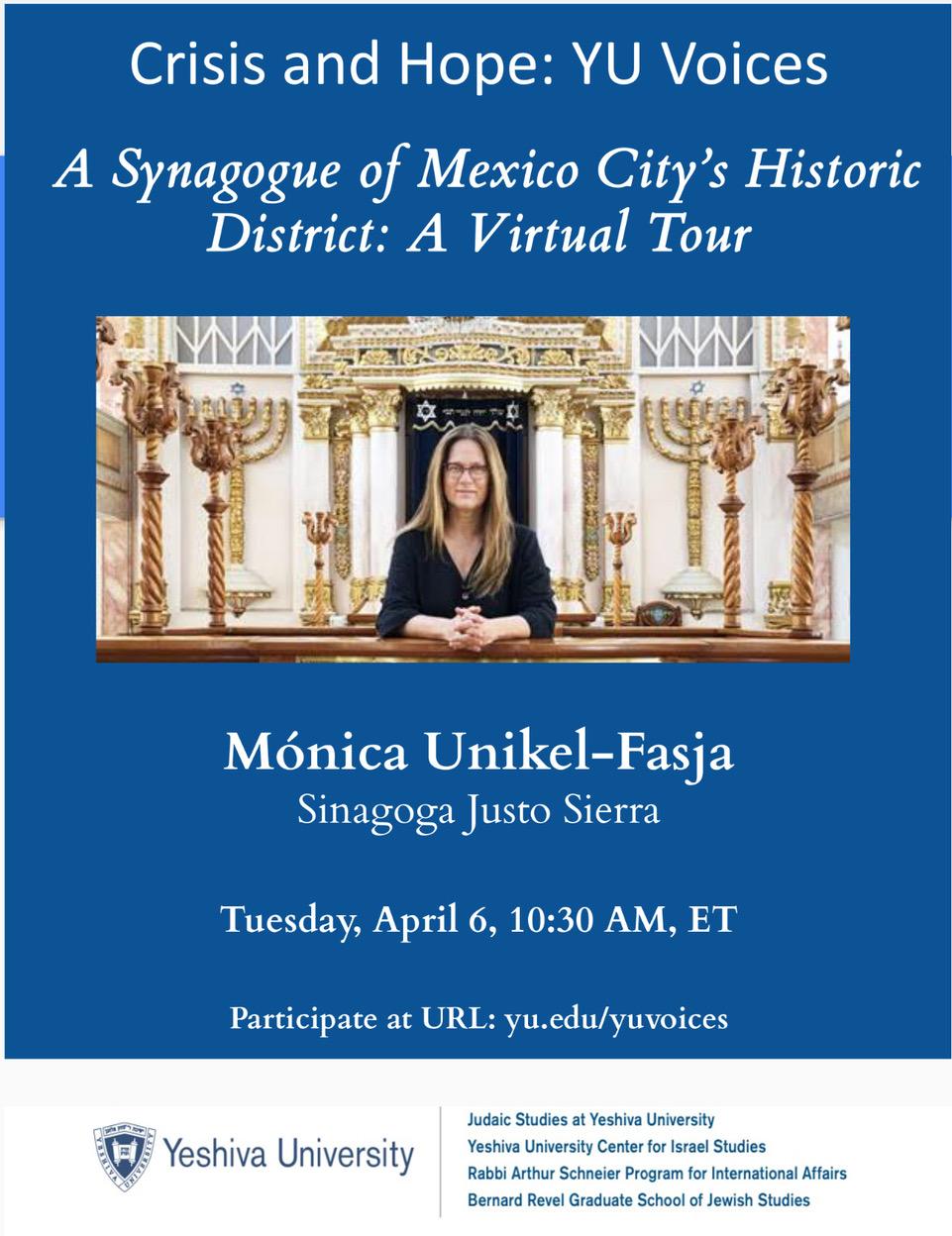 A Synagogue of Mexico City's Historic district:  A virtual Tour