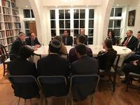 Straus Scholars meet with Lord Sacks
