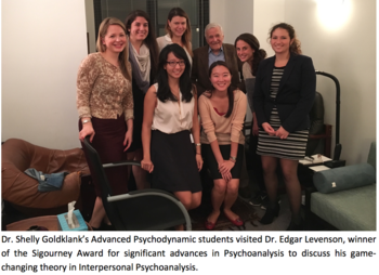 Advanced Psychodynamic students with Dr. Edgar Levenson