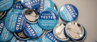 Covid testing buttons