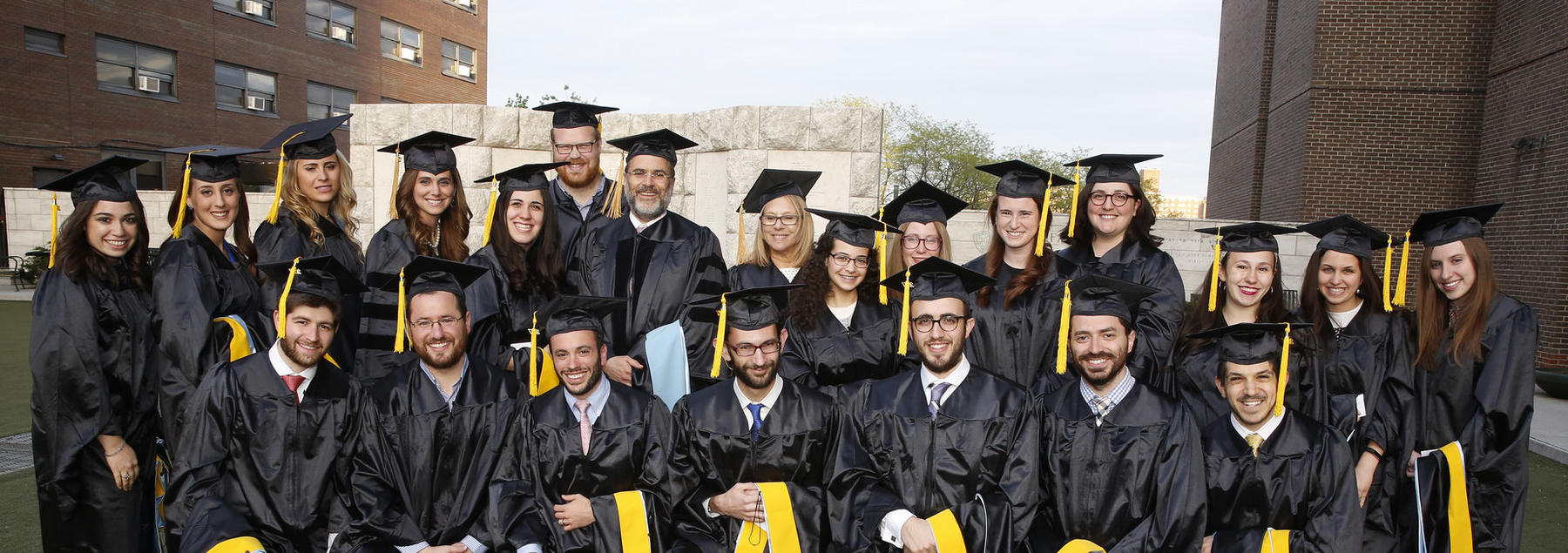 Azrieli students on graduation day