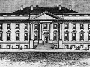 etching of White House